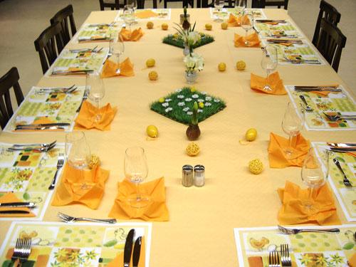 table nenuphar Sugestões de como decorar a mesa para a páscoa